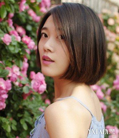【图】气质短直发中分发型图片 圆脸必学超瘦