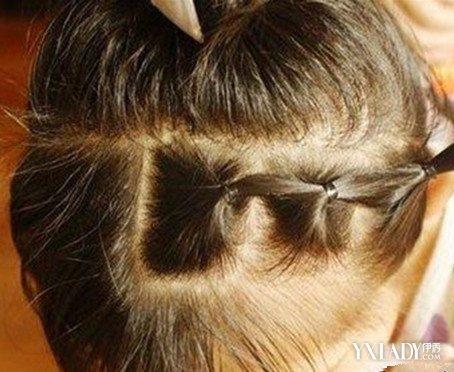 小女孩小辫子发型扎法 儿童扎辫 (454x372)