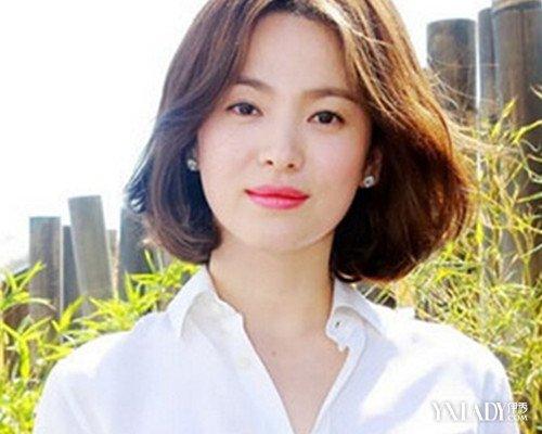 【图】宋慧乔无刘海发型图片 中分短发清新优雅