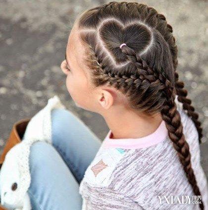 【图】小女孩爱心盘发发型图片欣赏 4款爱心发型让宝贝美美哒