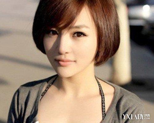 短发不烫女生发型图片 清纯可人显气质图片