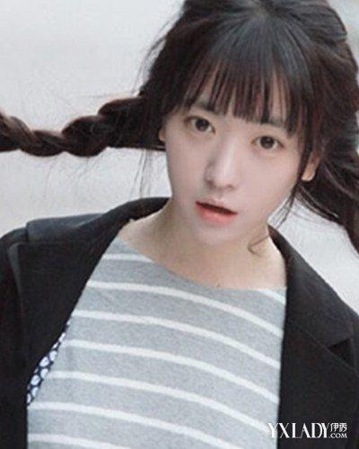 【图】适合中学生扎的发型图片 清纯气质养眼