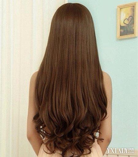 女生学生卷发发型背影分享展示图片