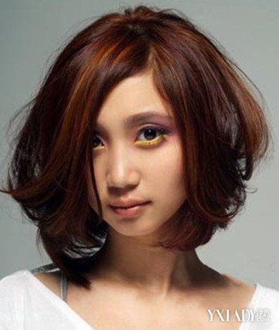 【图】女士短发发型图片烫发图片