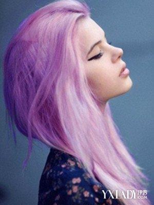 【图】紫色头发编发图片欣赏