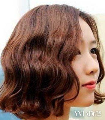 【图】女生中长短发烫发发型图片