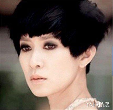 发型 明星发型 正文  香港tvb女星佘诗曼的这款个性的短发发型图片图片