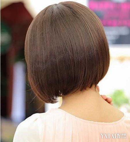 【图】女生中短发直发发型背面图片