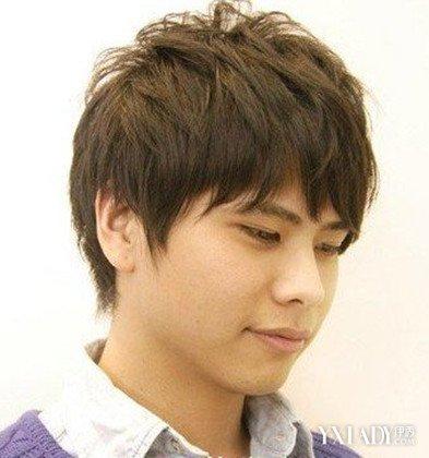 【图】深亚麻灰头发图片男 (393x420)-日系风格,短发发型图片