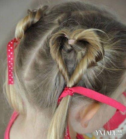 儿童爱心盘发发型图片欣赏 几款爱心萌发型打造甜心宝贝