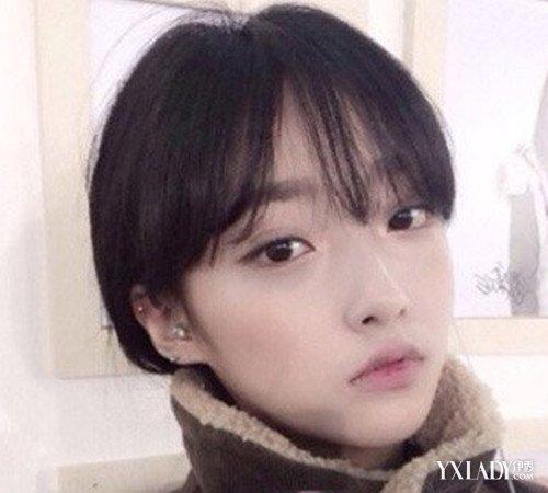 女生大脸空气刘海短发发型 凸显女生可爱甜美气质图片