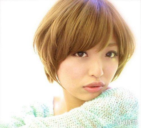 【图】女生短发蘑菇头蓬蓬烫发发型