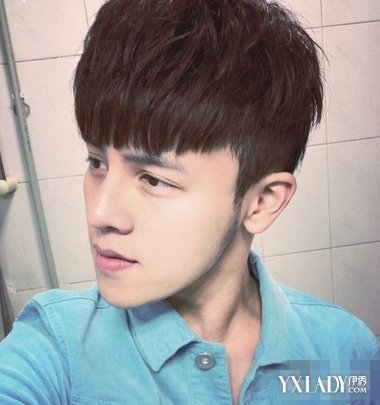 【图】发型两边掏空齐刘海 打造个性帅气型男图片