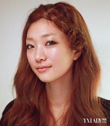 大圆脸无刘海发型扎法图解 大脸的发型也能美美地修颜