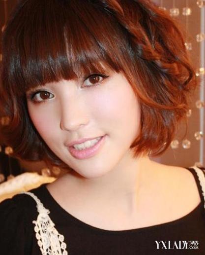 大头女生短发发型大全 脸型发型轻松配图片
