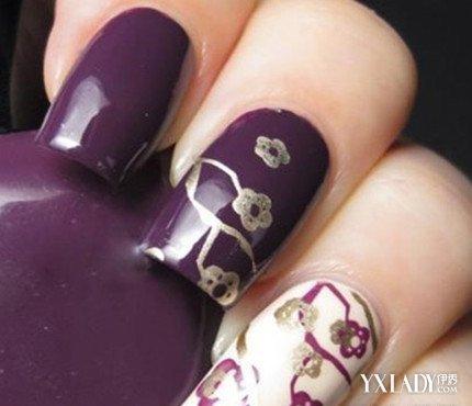 【图】法式指甲手绘美甲图片