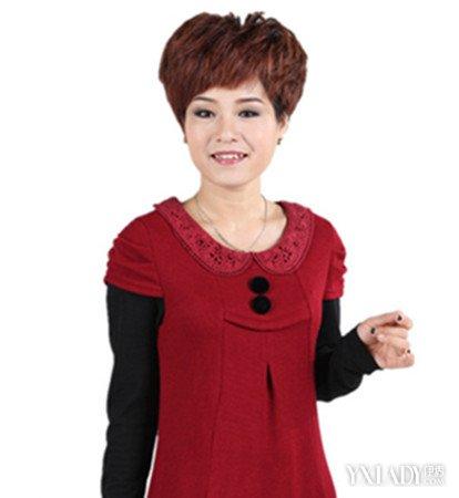 圆脸中年女性适合的短发
