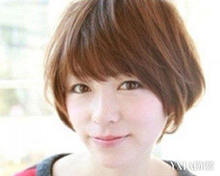 【图】揭适合国字脸齐刘海发型图片四款发型烫发一个半卷图片