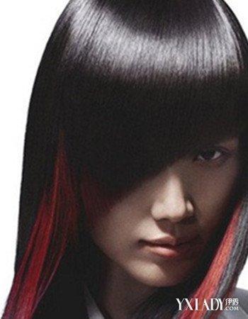 黑发直发挑染头发图片大全 让你彰显独特魅力图片