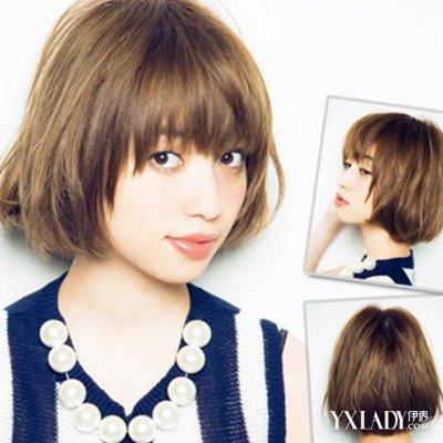 女生到肩的卷发发型图片 4款甜美发型来袭图片