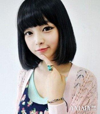 【图】圆脸齐刘海齐肩短发发型图片 减龄修颜必备图片