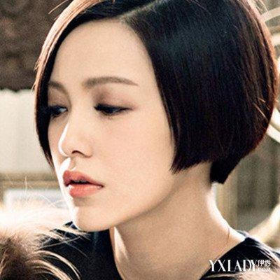【图】一边长一边短的发型女图片素材?图片