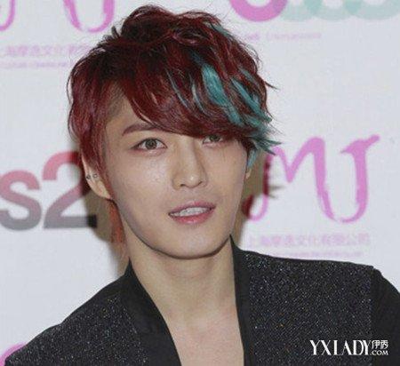 【图】男挑染发型发型最新亮蓝色挑修改玩转怎么图片染发天龙八部图片