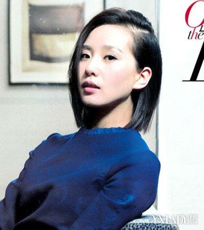 刘诗诗中短发发型造型图片