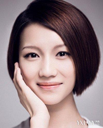 【图】偏分直短发发型发型v短发俏丽又清爽(2图片短发中年女卷图片