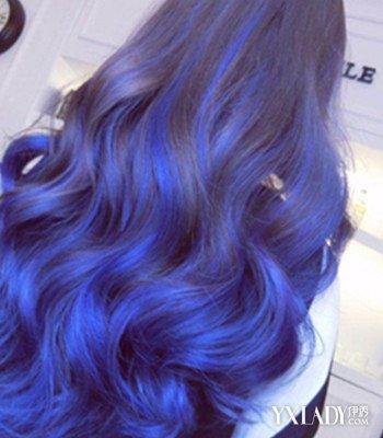 【图】深蓝色渐变色头发图片欣赏 四款发型清新时尚