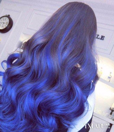 【图】漂紫蓝色头发图片 魅力染发色清新时尚