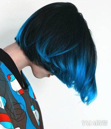 漂紫蓝色头发图片 魅力染发色清新时尚