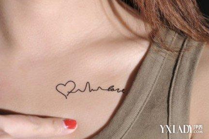 【图】女生锁骨纹身小图案