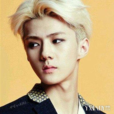韩国男生中分发型 帅气诠释潮男风尚图片