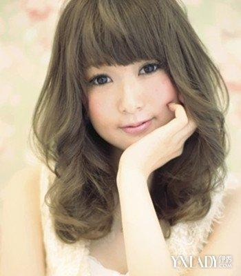 圆形脸女生发型设计图片