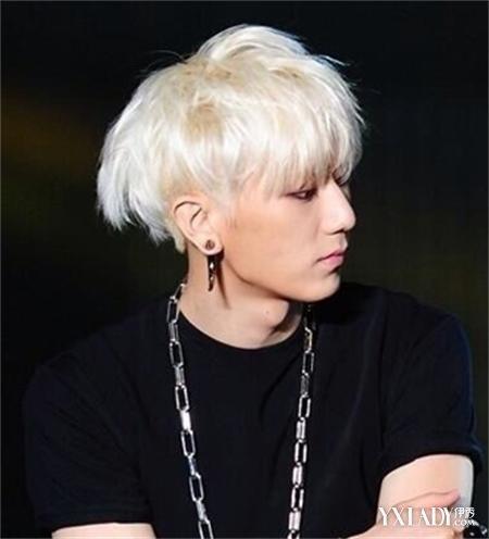 银白色头发发型图片