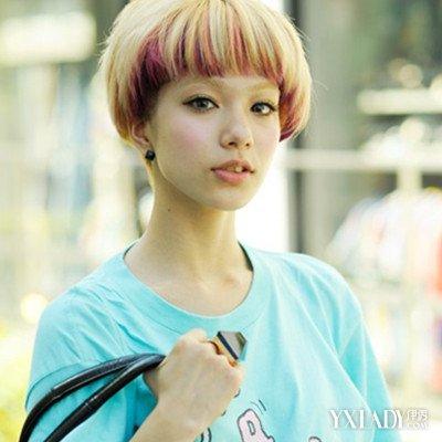 挑染发型女士短发图片 超个性渐变色发型图片