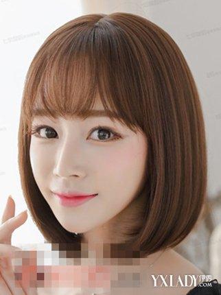 【图】空气刘海短发女图片展示 4款发型令你更
