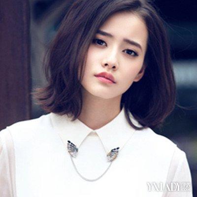 【图】淑女发型无头帘短发女生彰显温婉图片碎发女发型图片