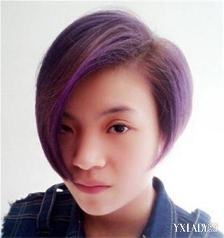【图】短发挑染气质魅力v短发壁纸十足显紫色电脑怎么换gta5发型图片
