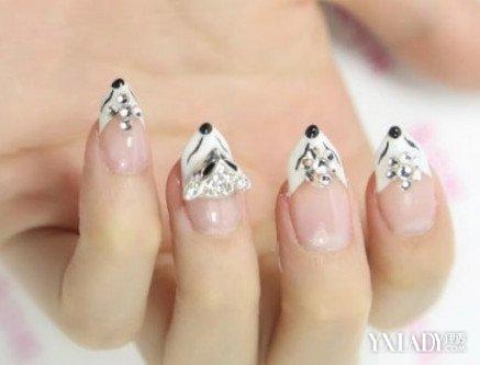 指甲立体雕花小动物