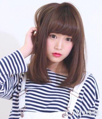 【图】中长直发烫发发型图片图片