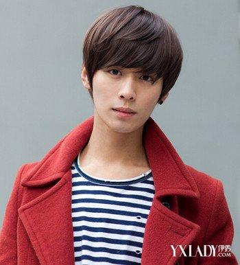 男生齐刘海染发图片展示 潮流发型教你如何做个小帅哥图片
