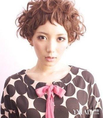 大脸中短发烫发发型图片 展现独特的女性魅力图片