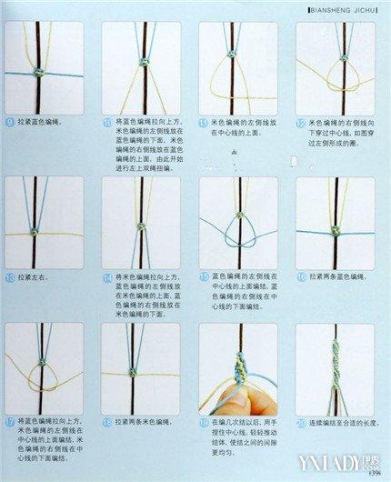 【图】超简单四股绳的编法图解 十分钟编出好看手绳