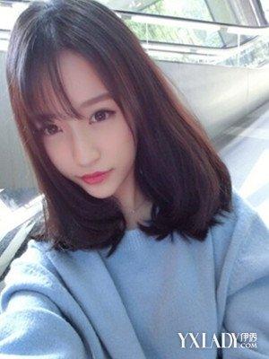 【图】韩式女生中发发型图片图片