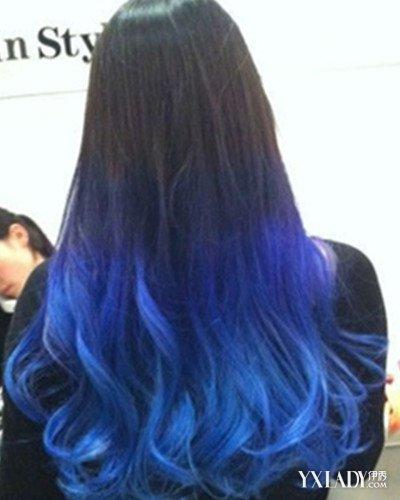 【图】蓝黑色头发图片盘点 魅力十足清新时尚