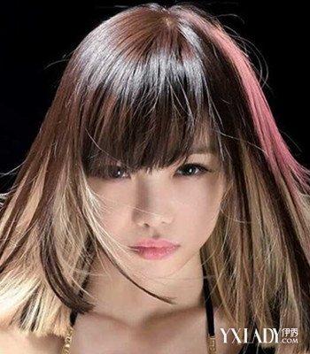 女生挑染头发发型 玩转个性潮流染发图片