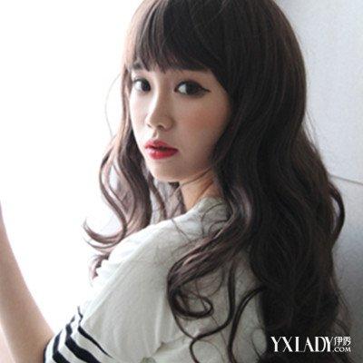 【图】韩国烫发大卷中长发 蓬松设计魅力十足图片