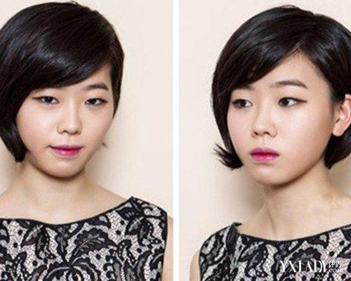 流行沙宣短发发型三七分 清新别致超吸睛